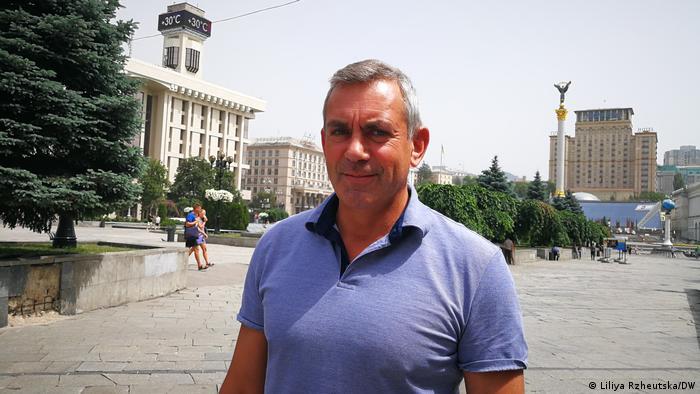 Камінер на Майдані в Києві