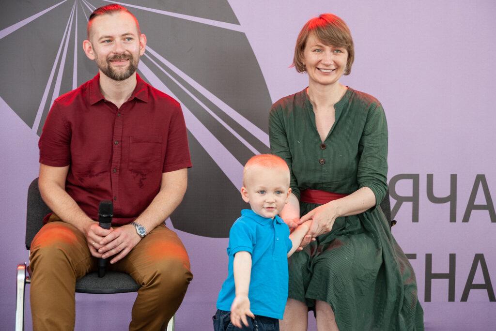 Юрій і Тетяна Гайдай на презентації книжки на Книжковому Арсеналі